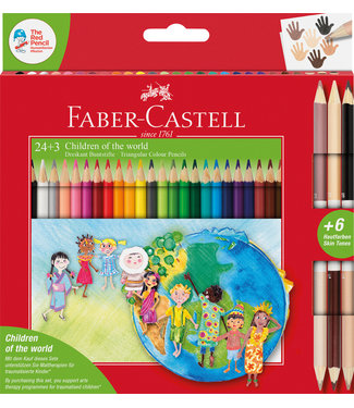 Faber Castell KLEURPOTLOOD DRIEKANT 24+3ST