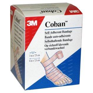 3M Coban zwachtel huidskleur 7.5cm x 3m ongerekt, per rol