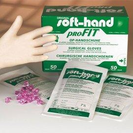Soft-Hand Profit Handschoenen, steriel, latex, poedervrij, doos 50 paar