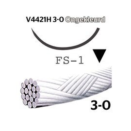 V4421H Vicryl® Rapide 3-0 Ongekleurd, met FS-1 (24mm) naald, per doos van 36 stuks