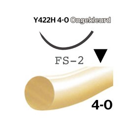 Y422H Monocryl® 4-0 Ongekleurd, FS-2 (19mm) naald, per 18 stuks