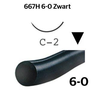 667H Ethilon® 6-0 Zwart met C-2 (13mm) naald