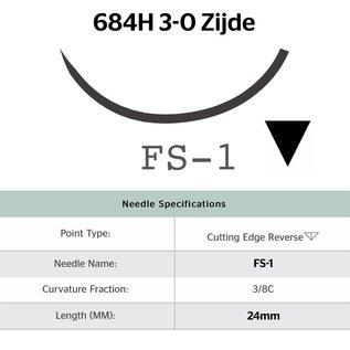 684H Silk® 3-0 met FS-1 (24mm) naald