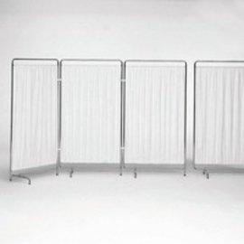 Bekleding voor bedscherm 2-delig, kunststof grijswit,2x950mm