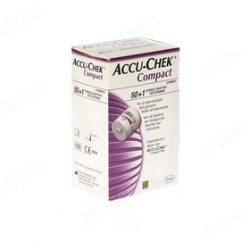 Roche Accu-Chek Compact glucoseteststrips, verpakt per 51 stuks