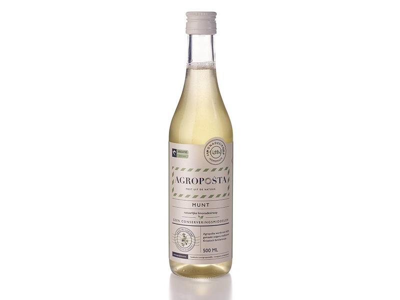 Agroposta Munt siroop op fles