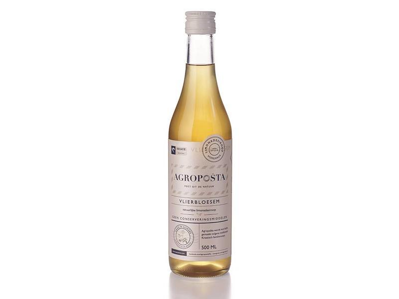 Agroposta Biologische Vlierbloesem Siroop op fles