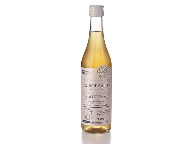 Agroposta Vlierbloesem Siroop op fles