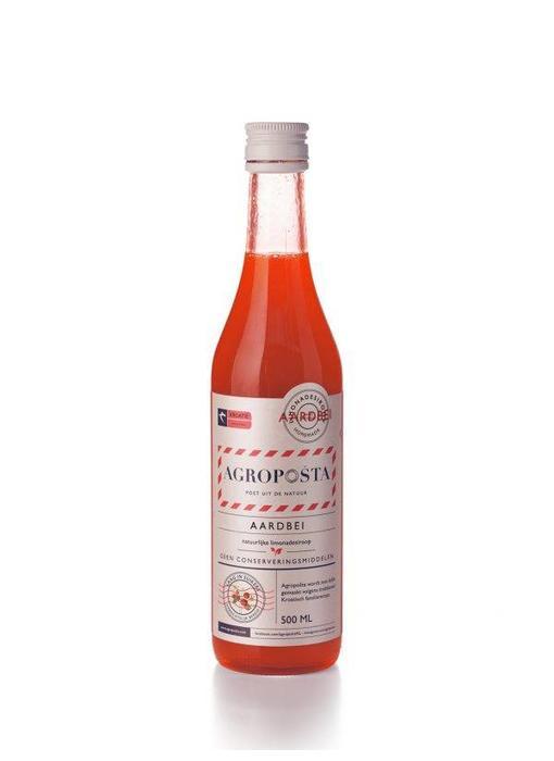 Agroposta Fles Aardbeien Siroop