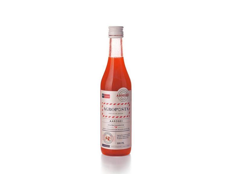 Agroposta Aardbeiensiroop Fles 500ml