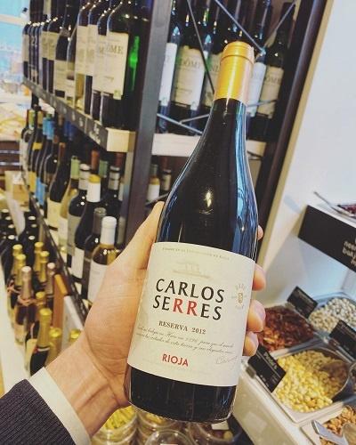 Rioja Reserva 2012, Carlos Serres