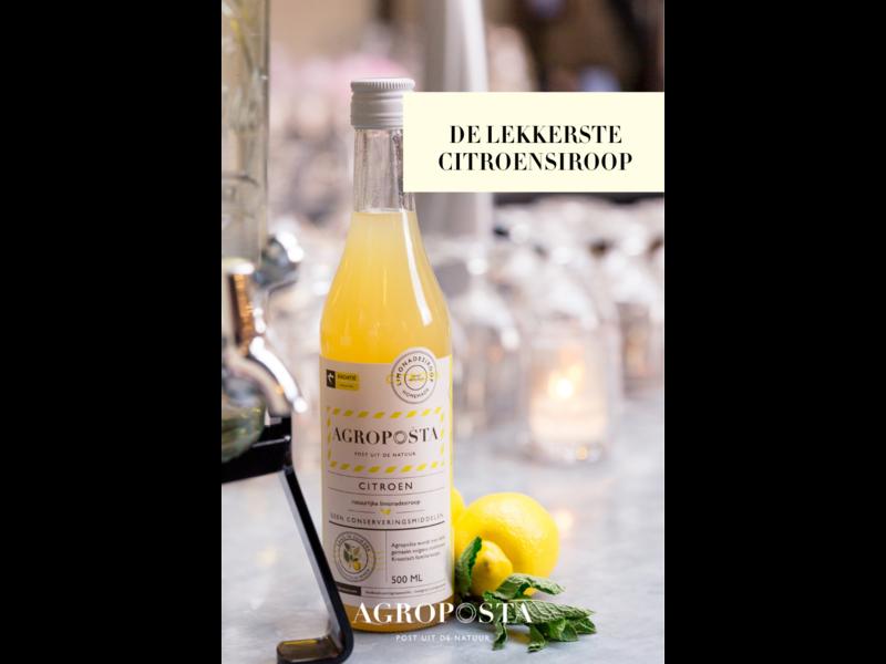 Agroposta Zitronensirup in einer Flasche