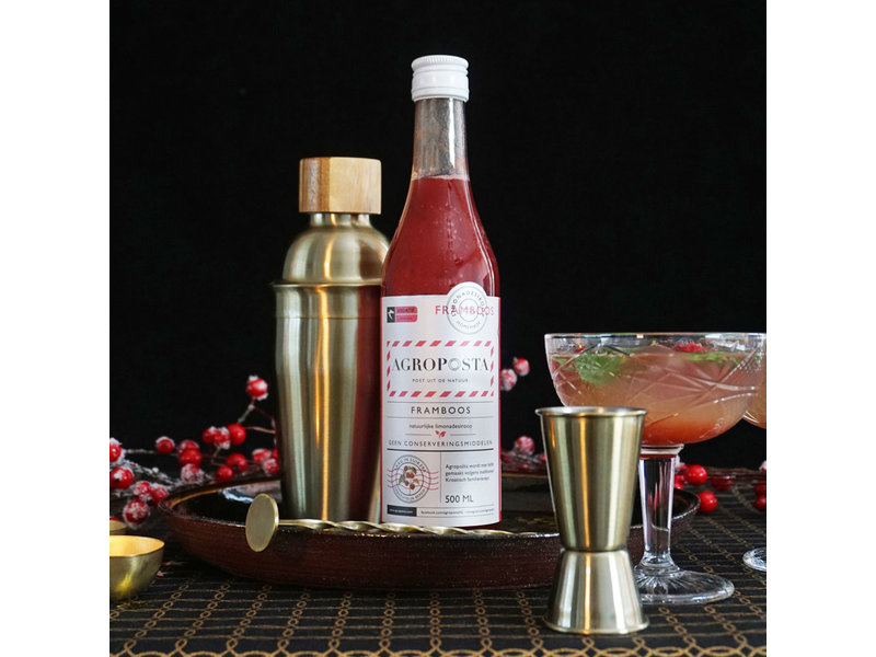 Agroposta Raspberry syrup in a bottle