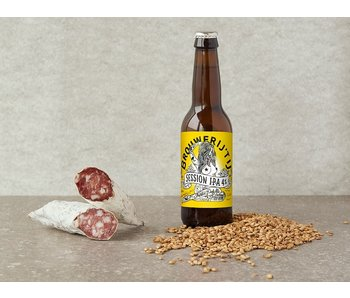 Brandt & Levie Sausage with the Session IPA from Brouwerij t'IJ