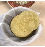 Tortilla van 100% Biologische gele mais
