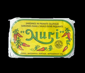 Nuri Sardines in Pikante olijfolie