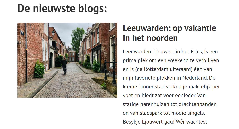 """Bacqpack: """"Leeuwarden, op vakantie in het noorden"""""""