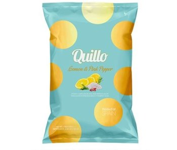 Quillo Lemon & Pink Pepper Chips - 45 gr