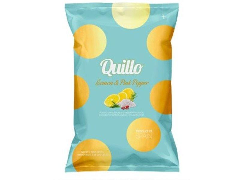 Quillo Lemon & Pink Pepper Chips - 45 gr