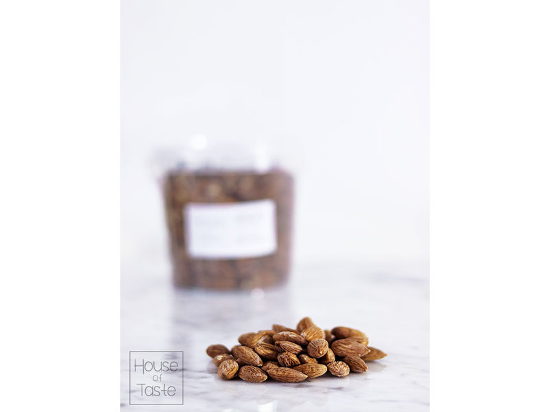 Dry roasted and salted and almonds