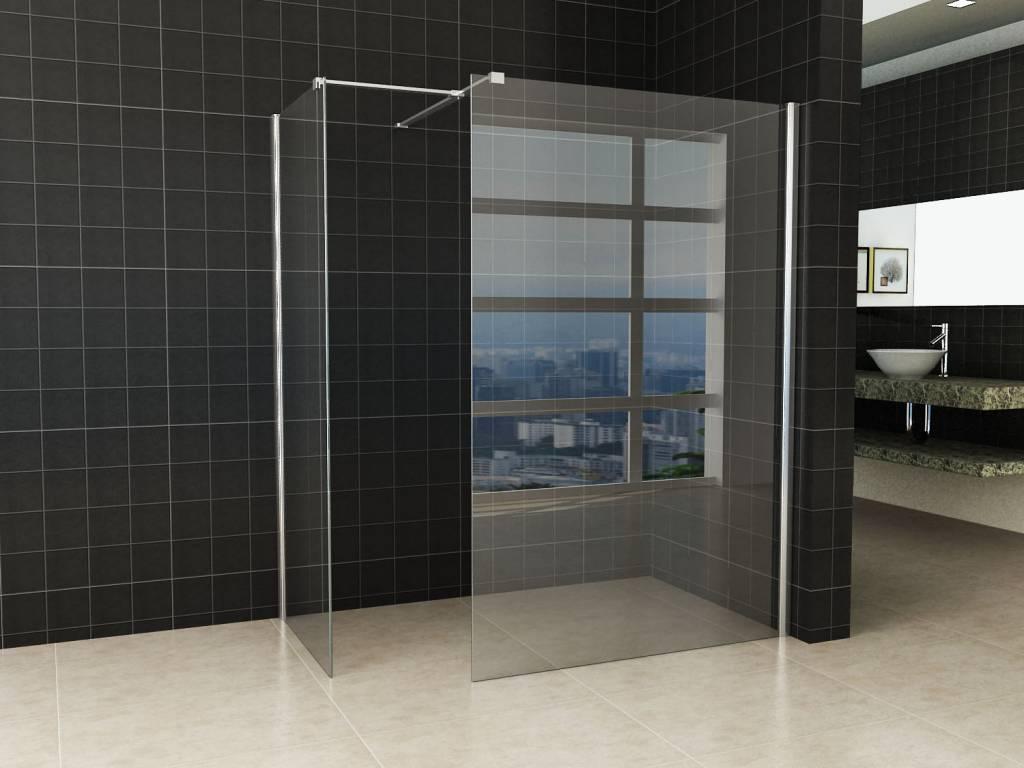 Inloopdouche Met Glazen Wand.Inloopdouche Combinatie Set 2 Glazen Wanden Met Nano