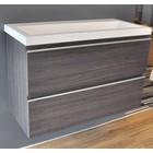 Onderkast 80x36 houtnerf grijs