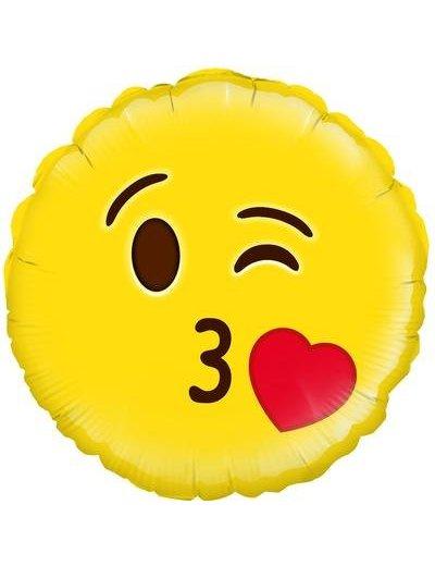 Folieballon Smiley Blow a Kiss