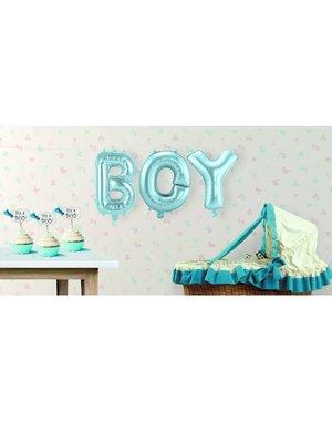 Baby Blauwe BOY Supershape Folieballonnen