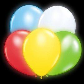 5x Gekleurde Lichtgevende LED Ballonnen
