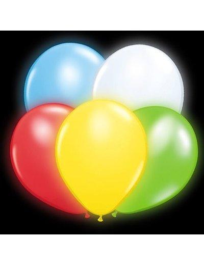 Ballonnen Gekleurde LED - 5stk