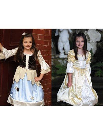 2 in 1 Kostuum Prinses Arm Meisje Jurk