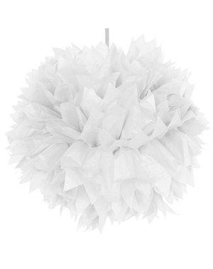 Witte Pompoms Decoratie Versiering