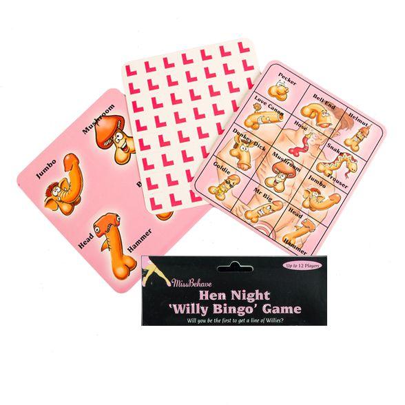 Verrassend Willy Piemel Bingo Vrijgezellenfeest Spelletje - Feestperpost MN-59