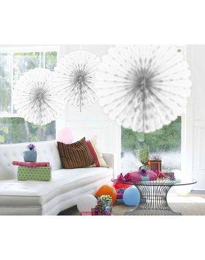 Witte Honeycomb Waaier Paper Fans