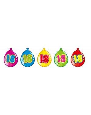 Gekleurde Ballonnen Slinger 18 Jaar