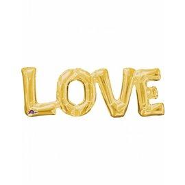 Gouden Love Folieballon Liefde