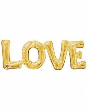 Folieballon LOVE Goud