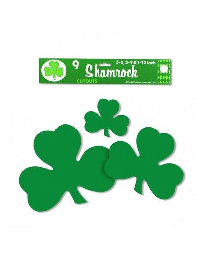 9x Shamrock St Patrick's Day Cut Outs