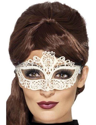Wit kanten oogmasker