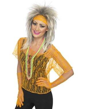 Neon Oranje Koningsdag Verkleedsetje