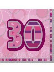 Roze 30ste Verjaardag Servetten