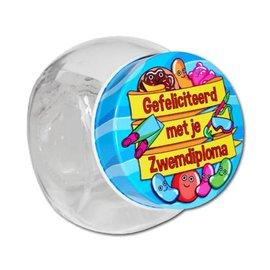 Candy Jar Gefeliciteerd met je Zwemdiploma