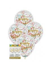 Happy Birthday Print Confetti Ballonnen