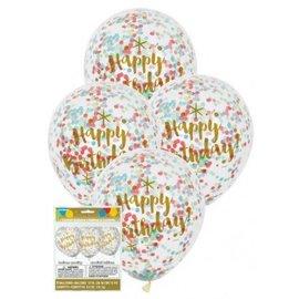 Happy Birthday Print Confetti Ballonnen