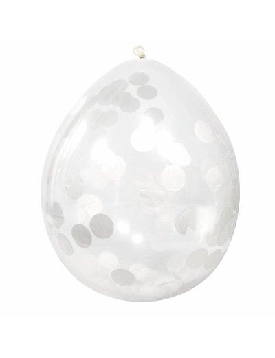 Witte Confetti Ballonnen
