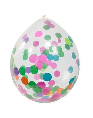 Mix Kleuren Confetti Ballonnen