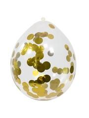 Gouden Confetti Ballonnen 4 stuks