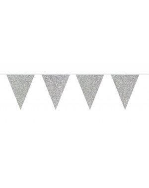 Zilveren glitter Vlaggenlijn