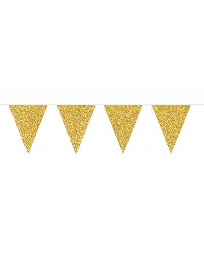 Gouden  glitter Vlaggenlijn