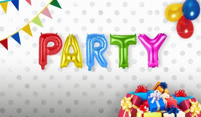Party Foileballonnen Set Feest Verjaardag Feestperpost